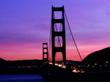 Golden Gate Bridge at Sunset, San Francisco, California, USA Photographic Print by Angus Oborn