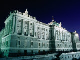 Palacio Peal at Night, Centro, Madrid, Spain Photographic Print by Richard Nebesky