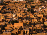 Aerial View of Old City from Fort, Jaisalmer, Rajasthan, India Photographic Print by Dallas Stribley