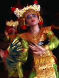 One of the Legong Dancers Competing in School Competitions at the Arts Centre, Denpasar, Indonesia Photographic Print by Adams Gregory