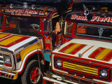 Traditional Colombian Chivas Buses with Painted Wooden Bodies, Pereira, Risaralda, Colombia Photographic Print by Krzysztof Dydynski