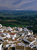 Village Rooftops and Distant Snow-Capped Mountains, Olvera, Andalucia, Spain Photographic Print by David Tomlinson
