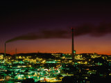 Smokestacks of Mine and City at Sunset Mt. Isa, Queensland, Australia Photographic Print by Barnett Ross