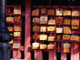 Plaques Lining Walls of Fushimi Inari Shrine in Kyoto, Kyoto, Kinki, Japan Photographic Print by Christopher Groenhout