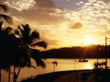Samana Bay at Sunset, Samana, Dominican Republic Photographic Print by Wayne Walton