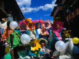 Children in Costume on Village Patron Saint's Day, Raquira, Boyaca, Colombia Photographic Print by Krzysztof Dydynski