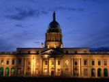 Exterior of Custom House at Dusk, Dublin, Ireland Photographic Print by Jonathan Smith