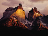 The Cuernos Del Paine (Horns of Paine) at Sunrise, Patagonia, Chile Photographic Print by Richard I'Anson
