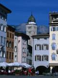 Street Cafe in Piazza Duomo, Trento, Trentino-Alto-Adige, Italy Photographic Print by Grant Dixon