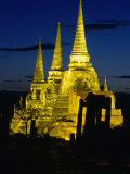 Wat Phra Sri Sanphet Built by King Ramathibodi I in the 14th Century, Ayuthaya, Thailand 写真プリント : トム・コックレム