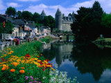 The River Oust and Castle, Josselin, Brittany, France Photographic Print by David Tomlinson