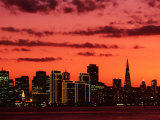 City at Sunset from Treasure Island, San Francisco, USA Fotografiskt tryck av John Elk III