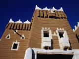 Exterior of Traditional Mud Najran Fort, Najran, Asir, Saudi Arabia Photographic Print by Tony Wheeler