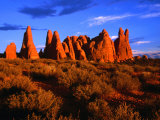Eroded Sandstone Pinnacles and Fins, Arches National Park, Utah, USA Photographie par Gareth McCormack