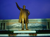 Large Mansudae Statue of Kim Il Sung, P'Yongyang, North Korea Photographic Print by Tony Wheeler