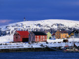 Vardo Village in Varanger-Halvoya Fjord Area, Norway Photographic Print by David Tipling