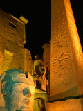 Luxor Temple at Night, Luxor, Egypt Photographic Print by Greg Elms