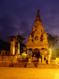 Vatsala Durga Temple on Durbar Square at Night, Bhaktapur, Nepal Photographic Print by Ryan Fox