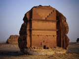 Qasr Farid Tomb, Carved from Single Large Outcrop of Rock, Madain Salah, Al Madinah, Saudi Arabia Photographic Print by Tony Wheeler