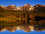 Sprague Lake Provides a Near-Perfect Mirror for the Surrounding Mountains, Colorado, USA Photographic Print by Gareth McCormack