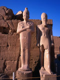 Two Collosi Statues at 8th Pylon at Karnak Temple in Ancient Thebes, Luxor, Egypt Photographic Print by Anders Blomqvist