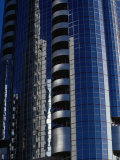 Modern Architecture on Corniche, Abu Dhabi, United Arab Emirates Photographic Print by Tony Wheeler