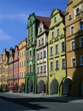 Gabled Houses in the Old Town Square, Jelenia Gora, Poland Photographic Print by Krzysztof Dydynski