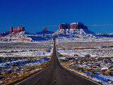 Us 163 Highway in Winter, Seen from Monument Pass, Monument Valley, USA Photographic Print by Witold Skrypczak