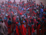 Regiment in Uniform Celebrates the Durbar Festival of Kano, Kano, Nigeria Fotografiskt tryck av Jane Sweeney