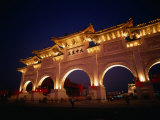 Chiang Kai Shek Memorial, Pavilion and Gates, Early Evening, Taipei, Taiwan Photographic Print by Philip & Karen Smith