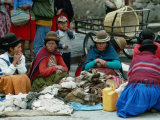 Aymara Indian Women Sitting Together, Puno, Peru Photographic Print by Eric Wheater