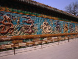 Nine Dragon Wall at Beihai Park, Beijing, China Photographic Print by Diana Mayfield