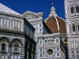 Battistero Facade, Dome and Campanile of Il Duomo, Florence, Tuscany, Italy Photographic Print by Dallas Stribley