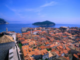 View of Rooftops from the City Walls, Dubrovnik, Dubrovnik-Neretva, Croatia Photographic Print by Jan Stromme