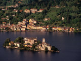 Isola San Guilio from Madonna Del Sasso, Milan, Italy Photographic Print by Stephen Saks
