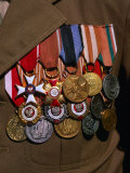 Medals on Breast of War Veteran, Warsaw, Poland Photographic Print by Krzysztof Dydynski