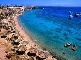 Blue Waters and Coral Reefs of Ras Um Sid, Sharm El-Sheikh, Egypt Fotografie-Druck von Mark Daffey