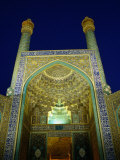 Eman Mosque at Night, Esfahan, Iran Photographic Print by Wayne Walton