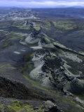 Crater Row from the 1783 Volcanic Eruptions, Sudurland, Iceland Fotografisk trykk av Grant Dixon