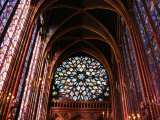 Rose Window in Upper Chapel of Saint Chapelle, Paris, France Photographic Print by Martin Moos