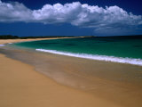 Popohaku Beach is the Longest Beach on Molokai's West End, Molokai, Hawaii, USA Photographic Print by Ann Cecil