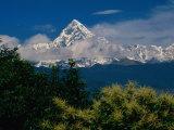 Mt. Machupuchare in the Annapurnas Range, Machhapuchhare, Gandaki, Nepal Fotografisk trykk av Carol Polich