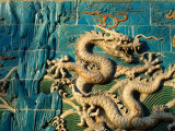 Detail of the Nine Dragon Screen in Beihai Park, Beijing, China Photographic Print by Jonathan Smith