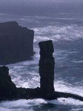 Old Man of Hoy Sandstone Stack (130M Tall), Hoy, Orkney Islands, Scotland Photographic Print by Grant Dixon