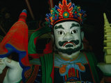 Detail of Statue Outside Temple in Korean Folk Village, Suwon, Gyeonggi-Do, South Korea Photographic Print by Eric Wheater