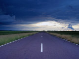 Arnhem Highway and Storm Clouds in the Wet Season, Kakadu National Park, Australia Photographic Print by Will Salter