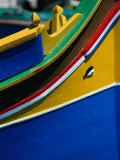 "Colourful ""Luzzu"" Fishing Boat with Eye of Protection, Marsaxlokk, Malta Photographic Print by Patrick Syder"