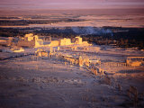 Sunset Over Ruins of Ancient City of 17th Century Arab Castle, Qala'At Ibn Maan, Syria Photographic Print by Tony Wheeler