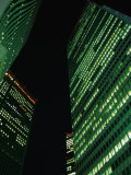 Skyscrapers in Shinjuku at Night, Tokyo, Japan Photographic Print by Martin Moos