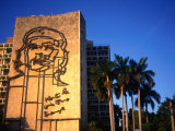 Sculpture of Che Guevara in the Plaza De La Revolucion, Havana, Cuba Papier Photo par Charlotte Hindle